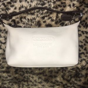 Authentic Coach small cream and brown handbag